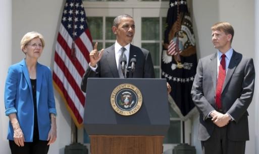 Warren, Obama, Cordray