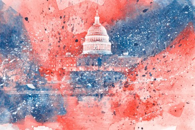 red & blue DC