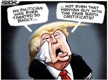 Trump birther cartoon