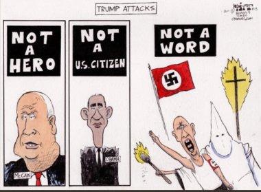 Trump nazi cartoon