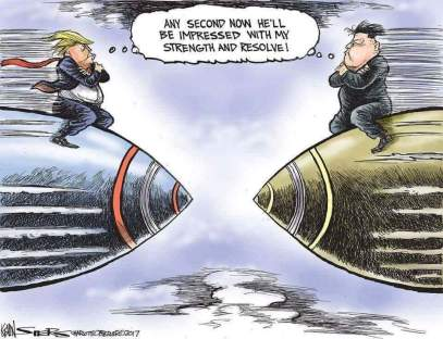 Trump NK cartoon