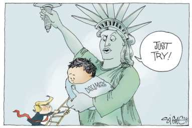 Trump DACA cartoon