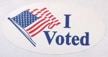 I Voted Sticker crop